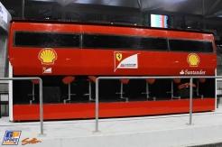 The Pit Wall for Scuderia Ferrari