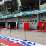 The Pit Lane for the Sepang International Circuit