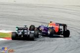 Nico Hülkenberg (Force India F1 Team, VJM08) and Daniil Kvyat (Red Bull Racing, RB11)