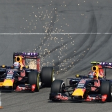 Daniel Ricciardo and Daniil Kvyat, Red Bull Racing, RB11