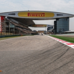 The Main Straight for the Shanghai International Circuit