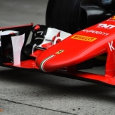 A Detail of the Front Wing for the Scuderia Ferrari SF15-T