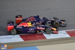 Daniil Kvyat (Red Bull Racing, RB11) and Max Verstappen (Scuderia Toro Rosso, STR10)
