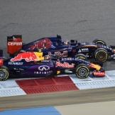 Daniil Kvyat (Red Bull Racing, RB11) and Max Verstappen (Scuderia Toro Rosso, STR10)