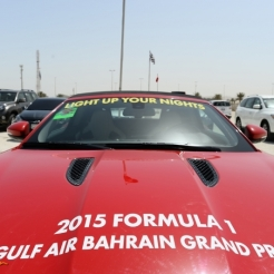 Advertising for the 2015 Formula 1 Gulf Air Bahrain Grand Prix