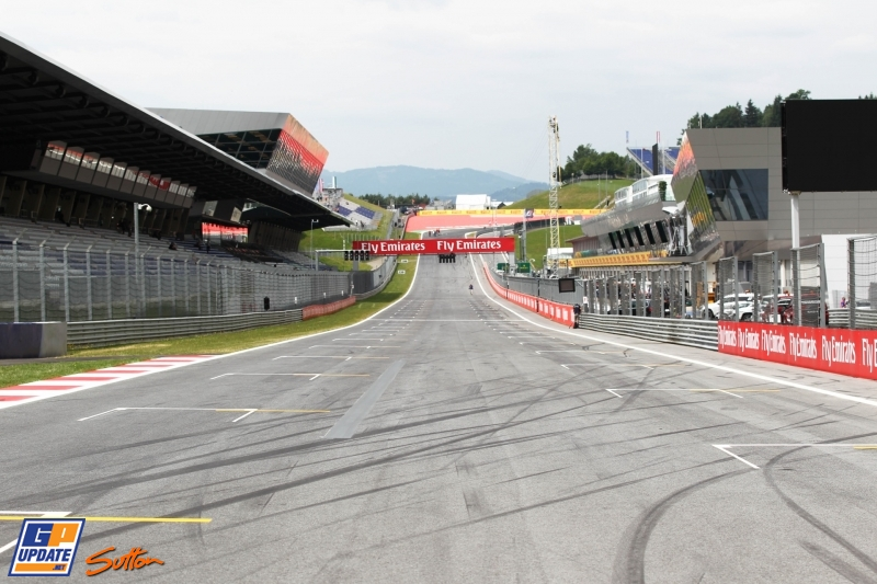 The Main Straight on the Red Bull Ring