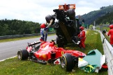 The cars for Kimi Räikkönen (Scuderia Ferrari, SF15-T) and Fernando Alonso (McLaren Honda, MP4-30)