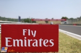 A close-up of an advert for Fly Emirates