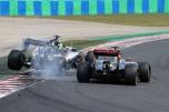 Sergio Peréz (Force India F1 Team, VJM08) and Pastor Maldonado (Lotus F1 Team, E23 Hybrid)