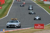 The Field behind The Safety Car