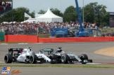 Valtteri Bottas (Williams F1 Team, FW37) and Lewis Hamilton (Mercedes AMG F1 Team, F1 W06 Hybrid)