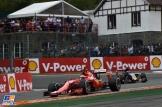 Kimi Räikkönen (Scuderia Ferrari, SF15-T) and Max Verstappen (Scuderia Toro Rosso, STR10)