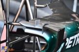 A Detail of the Mercedes AMG F1 Team F1 W06 Hybrid