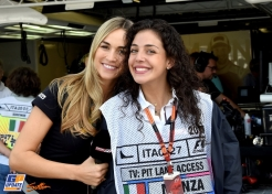 Two Girls in the Pit Lane