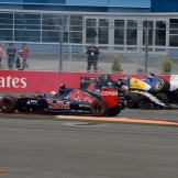 Carlos Sainz Jr. (Scuderia Toro Rosso, STR10), Nico Hülkenberg (Force India F1 Team, VJM08) and Marcus Ericsson (Sauber F1 Team, C34)