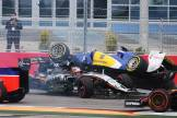 Nico Hülkenberg (Force India F1 Team, VJM08) and Marcus Ericsson (Sauber F1 Team, C34) colliding into each other