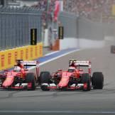 Sebastian Vettel and Kimi Räikkönen, Scuderia Ferrari, SF15-T