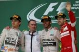The Podium : Second Place Nico Rosberg (Mercedes AMG F1 Team), Paddy Lowe (Mercedes AMG F1 Team), Race Winner Lewis Hamilton (Mercedes AMG F1 Team) and Third Place Sebastian Vettel (Scuderia Ferrari)