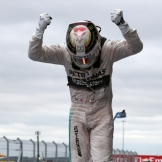 Lewis Hamilton (Mercedes AMG F1 Team) celebrating his Third World Title