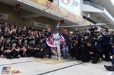 Mercedes AMG F1 Team and Lewis Hamilton celebrating his Third World Title