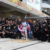 Mercedes AMG F1 Team and Lewis Hamilton celebrating his Third World Title