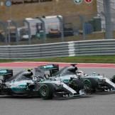 Nico Rosberg and Lewis Hamilton, Mercedes AMG F1 Team, F1 W06 Hybrid