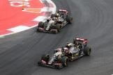 Pastor Maldonado and Romain Grosjean, Lotus F1 Team, E23 Hybrid