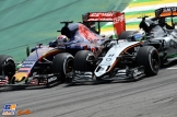 Sergio Pérez (Force India F1 Team, VJM08) and Max Verstappen (Scuderia Toro Rosso, STR10)