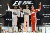 The Podium : Second Place Lewis Hamilton (Mercedes AMG F1 Team), Race Winner Nico Rosberg (Mercedes AMG F1 Team) and Third Place Kimi Räikkönen (Scuderia Ferrari)