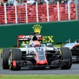 Romain Grosjean (Haas F1 Team, VF16) and Nico Hülkenberg (Force India F1 Team, VJM09)