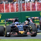 Max Verstappen (Scuderia Toro Rosso, STR11) and Carlos Sainz Jr. (Scuderia Toro Rosso, STR11)