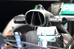 A Detail of the Mercedes AMG F1 Team F1 W07 Hybrid