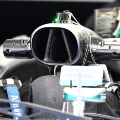 A Detail of the Mercedes AMG F1 Team F1 W07 Hybrid