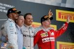 The Podium : Second Place Lewis Hamilton (Mercedes AMG F1 Team), Race Winner NIco Rosberg (Mercedes AMG F1 Team) and Third Place Kimi Räikkönen (Scuderia Ferrari)