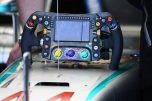 The Steering Wheel for the Mercedes AMG F1 Team F1 W07 Hybrid