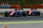 Rio Haryanto and Pascal Wehrlein, Manor Racing Team, MRT05