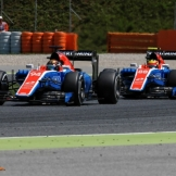 Rio Haryanto and Pascal Wehrlein, Manor Racing Team, MRT05
