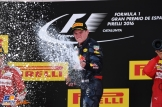 Max Verstappen (Red Bull Racing) celebrating his first F1 Win
