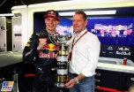 Max Verstappen (Red Bull Racing) with his father Jos Verstappen