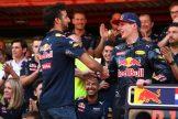 Daniel Ricciardo congratulating Max Verstappen