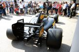 Pirelli Mock Up of 2017 F1 Car and Tyres