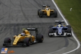 Jolyon Palmer (Renault F1 Team, RS16), Marcus Ericsson (Sauber F1 Team, C35) and Kevin Magnussen (Renault F1 Team, RS16)