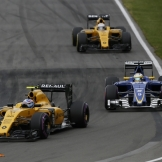 Jolyon Palmer (Renault F1 Team, RS16), Marcus Ericsson (Sauber F1 Team, C35) and Kevin Magnussen (Renault F1 Team, RS16)