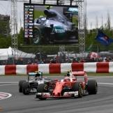 Kimi Räikkönen (Scuderia Ferrari, SF16-H) and Nico Rosberg (Mercedes AMG F1 Team, F1 W07 Hybrid)