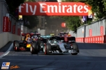 Nico Rosberg (Mercedes AMG F1 Team, F1 W07 Hybrid) and Daniel Ricciardo (Red Bull Racing, RB12)