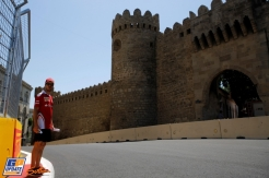 Sebastian Vettel (Scuderia Ferrari) near The Castle