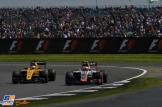 Kevin Magnussen (Renault F1 Team, RS16) and Esteban Gutiérrez (Haas F1 Team, VF16)