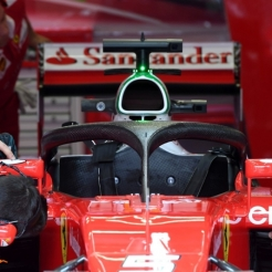 Scuderia Ferrari SF16-H with Halo