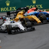 Felipe Massa (Williams F1 Team, FW38), Jolyon Palmer (Renault F1 Team, RS16) and Pascal Wehrlein (Manor Racing Team, MRT05)