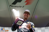 Daniel Ricciardo Celebrating his Second Place